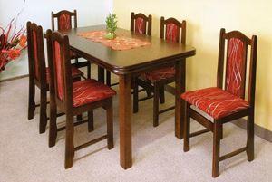 Obrazek Zestaw Ekskluzywny stół i 4 krzesła