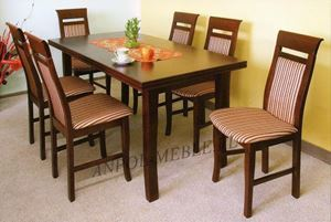 Obrazek Zestaw Luksusowy stół i 4 krzesła