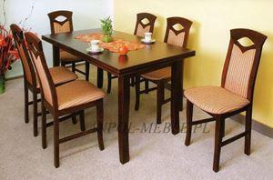 Obrazek Zestaw Wytworny stół i 6 krzeseł