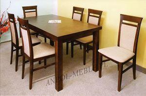 Obrazek Zestaw Elitarny stół i 4 krzesła