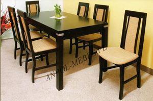 Obrazek Zestaw Monarcha stół i 6 krzeseł
