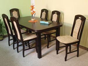 Obrazek Zestaw Szlachecki stół i 6 krzeseł