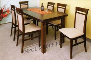 Obrazek Zestaw Królewski stół i 4 krzesła