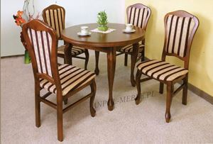 Obrazek Zestaw Mistrz stół okrągły i 4 krzesła