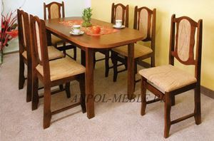 Obrazek Zestaw Królewicz stół i 8 krzeseł