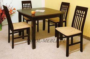 Obrazek Zestaw Estetyka stół i 4 krzesła