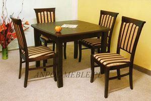 Obrazek Zestaw Wódz stół i 4 krzesła