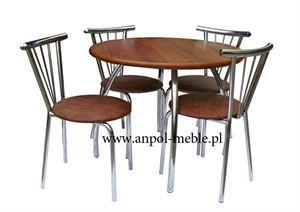 Obrazek Zestaw Awangardowy stół i 4 krzesła metalowe