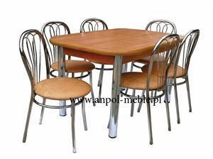 Obrazek Zestaw Pionier stół i 4 krzesła metalowe