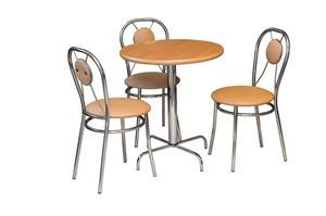 Obrazek Zestaw Alternatywa stół i 2 krzesła metalowe