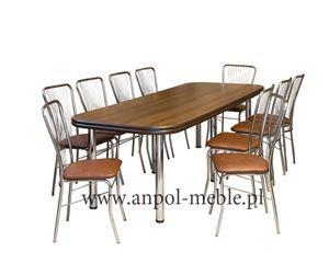Obrazek Zestaw Progresja stół i 4 krzesła metalowe