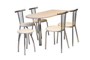 Obrazek Zestaw Rewolucja  stół i 4 krzesła metalowe
