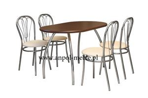Obrazek Zestaw Olimp stół i 4 krzesła metalowe