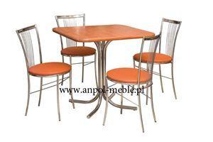 Obrazek Zestaw Plejada stół i 4 krzesła metalowe