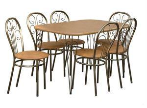 Obrazek Zestaw Majestatyczny stół i 4 krzesła metalowe