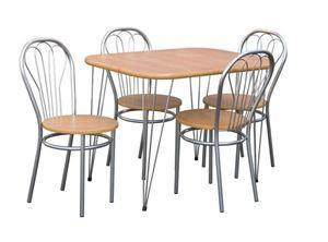 Obrazek Zestaw Dworski stół i 4 krzesła metalowe