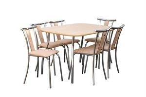 Obrazek Zestaw Nobliwy stół i 4 krzesła metalowe