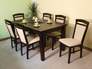 Obrazek Zestaw Królewski stół i 6 krzeseł